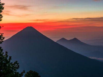Volcán Acatenango entre sacatepéquez y Chimaltenango