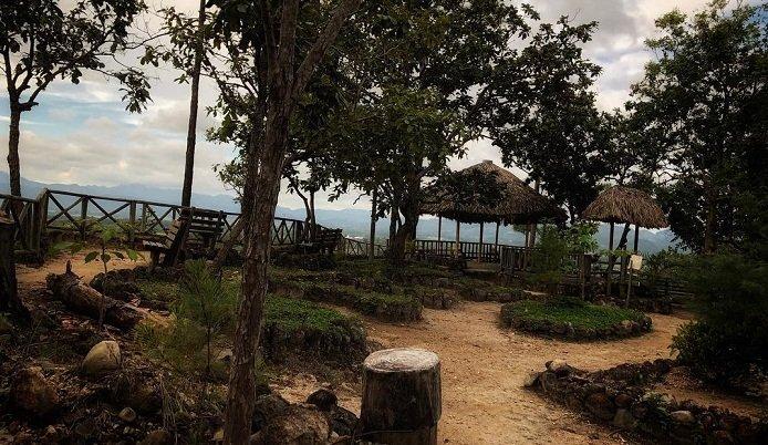 Mirador en el Parque Chatun